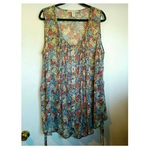 Floral Button Down Tunic/Mini Dress. 🌻